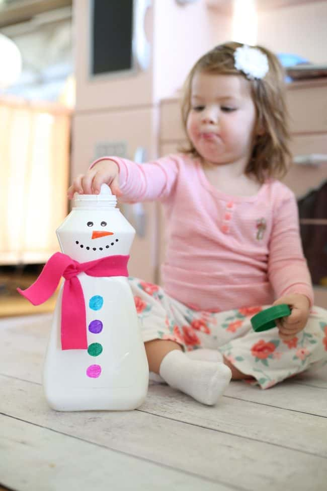Snowman Fine Motor Game for Toddlers