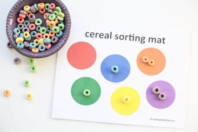 Printable Cereal Sorting Mat