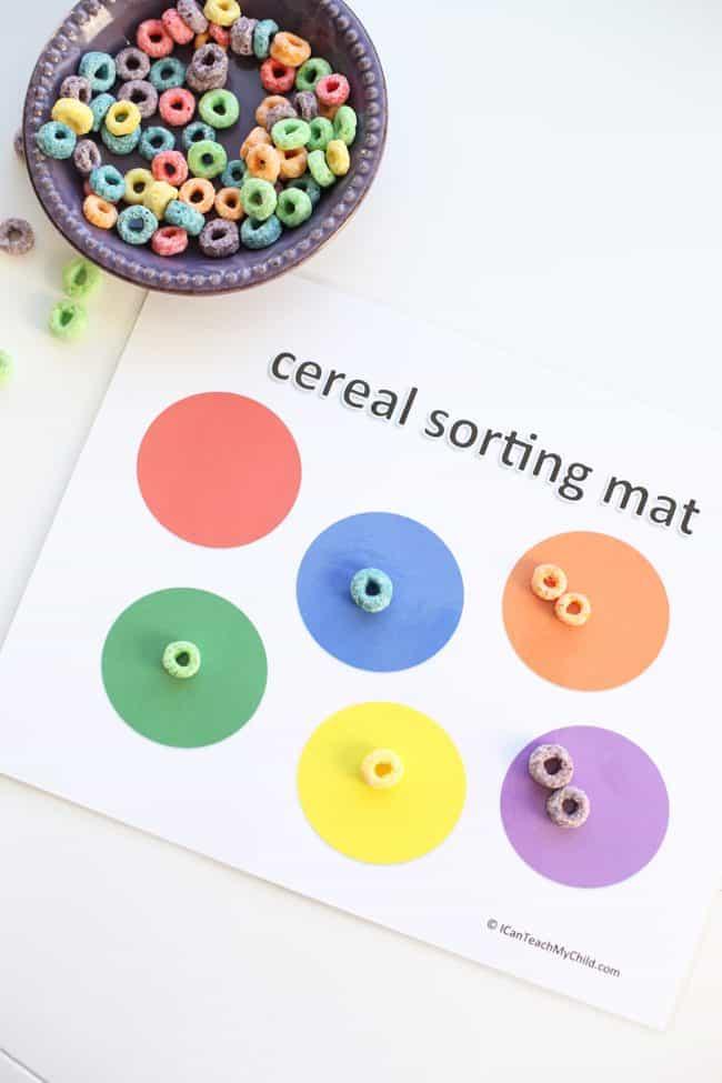 Printable Cereal Sorting Mat