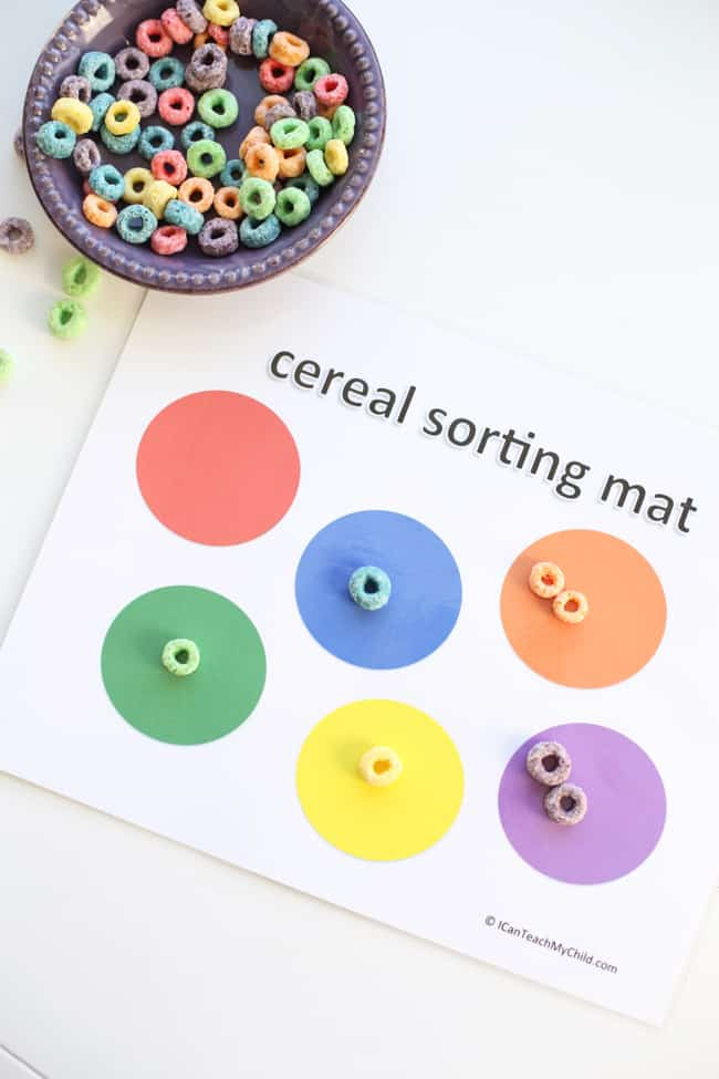 printable cereal sorting mat i can teach my child. Black Bedroom Furniture Sets. Home Design Ideas