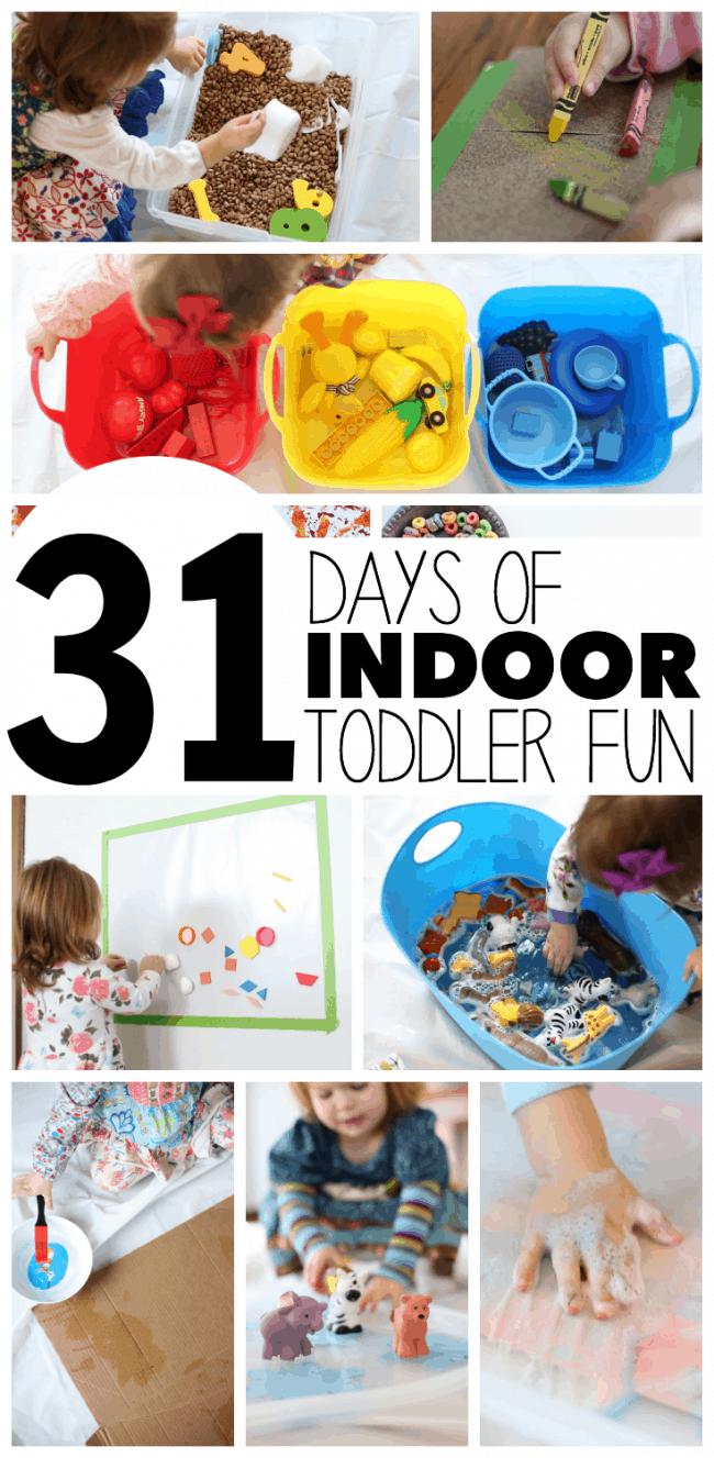 31 Days of Indoor Toddler Fun