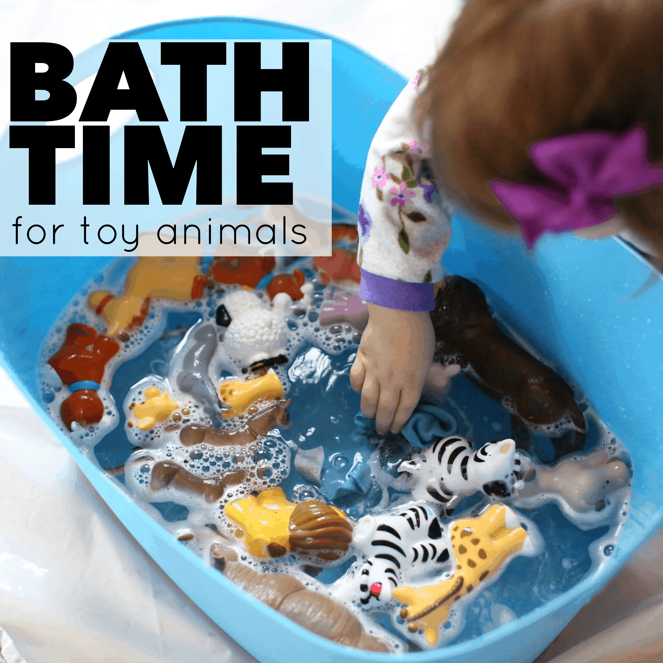 Bath Time for Toy Animals - I Can Teach My Child!