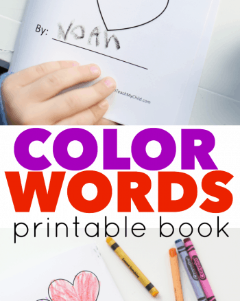 Color Words Printable Book