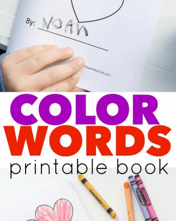 Color Words Printable Book