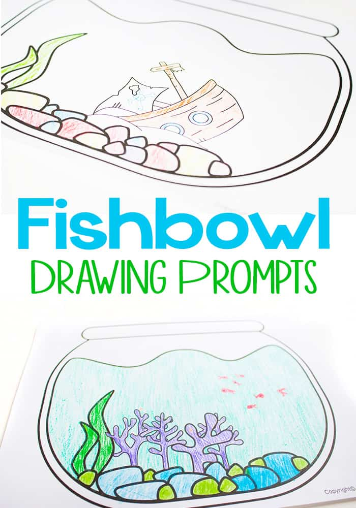 picture regarding Printable Fish Bowl identify Free of charge Printable Fishbowl Drawing Prompts - I Can Prepare My Little one!