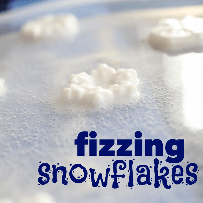 Fizzing Snowflakes square