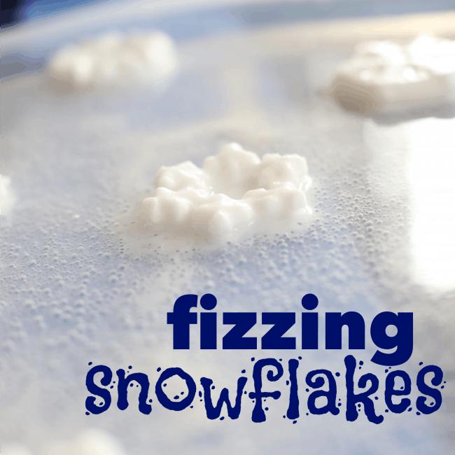 Fizzing Snowflakes square