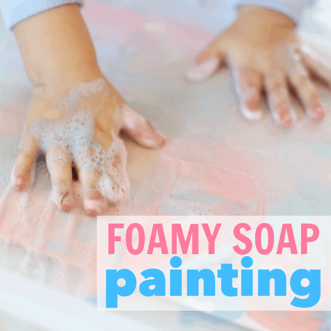 Foamy Soap Painting