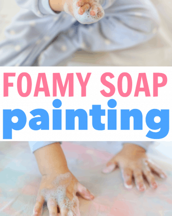 Foamy Soap Painting for Toddlers