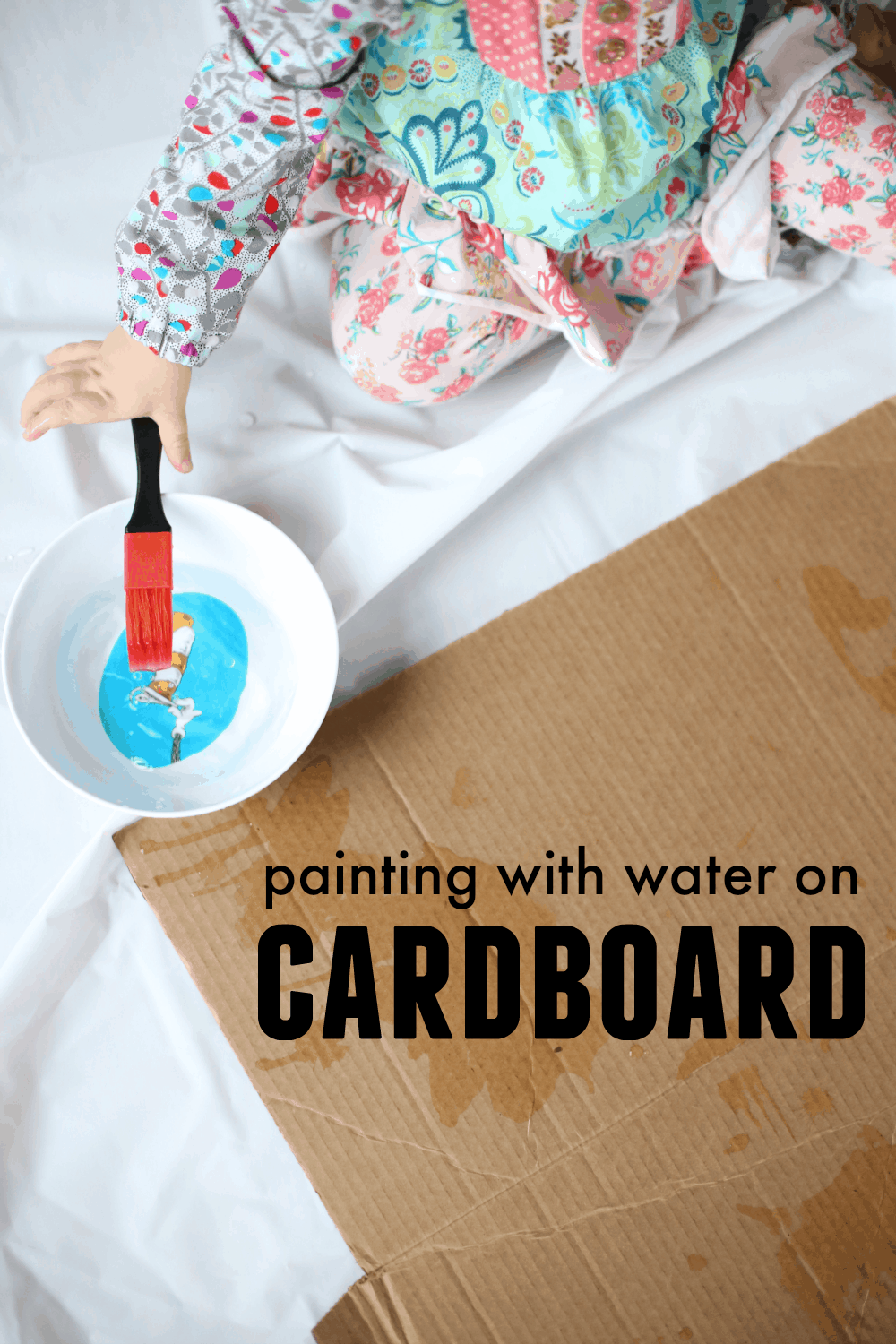 Painting With Water On Cardboard I Can Teach My Child