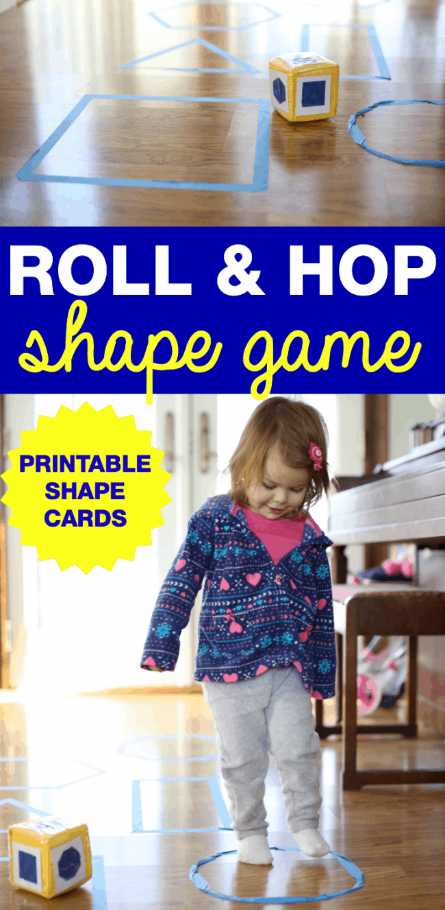 Roll & Hop Shape Game