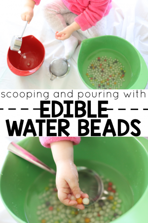 Scooping and Pouring Edible Water Beads