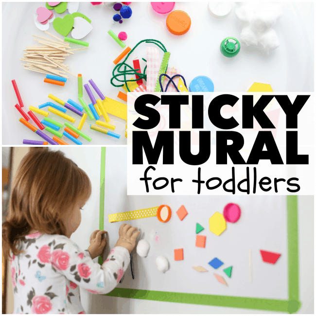 Simple Sticky Mural for Toddlers