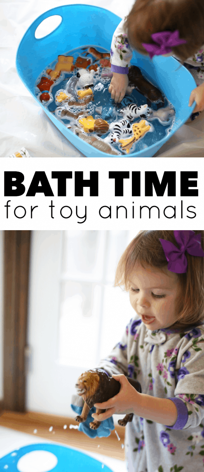 Simple Water Play Bath Time for Toy Animals