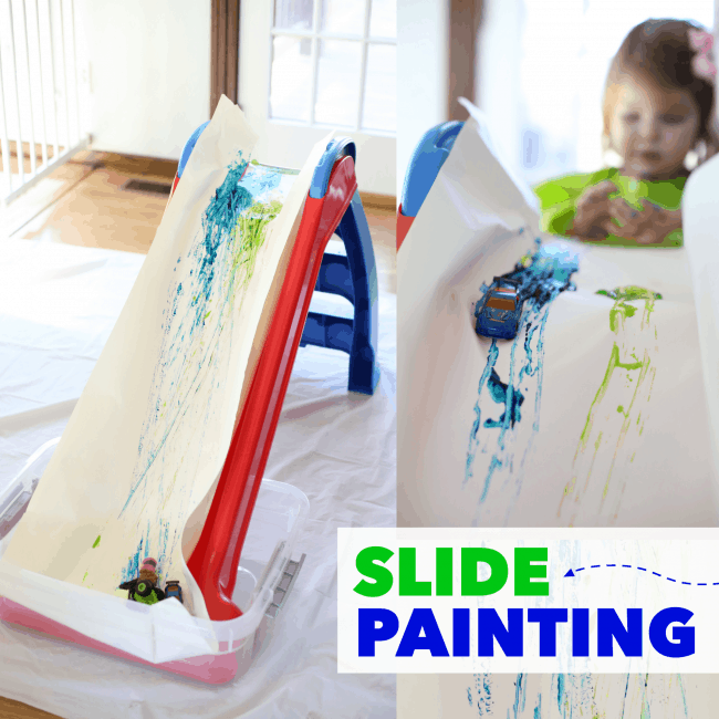 Slide Painting for Toddlers