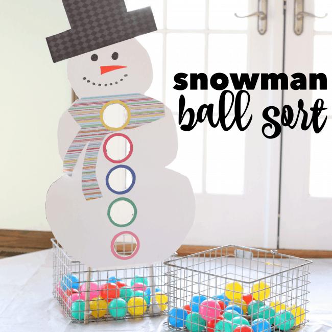 Snowman Ball Sort