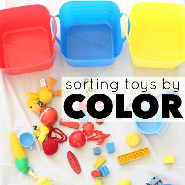 Sorting Toys by Color