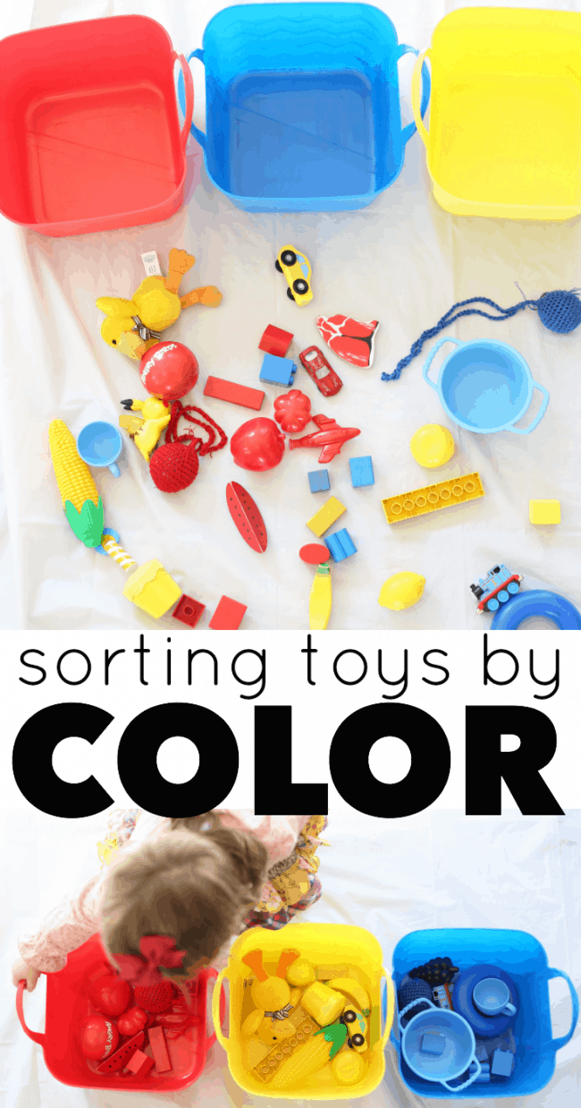 Toys For Activity : Sorting toys by color activity for toddlers i can teach