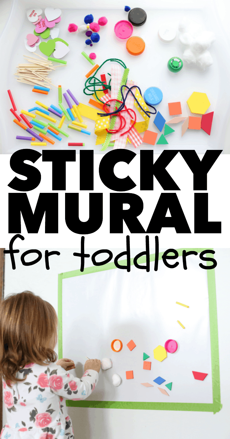 Sticky mural for toddlers i can teach my child for Sticky paper for crafts