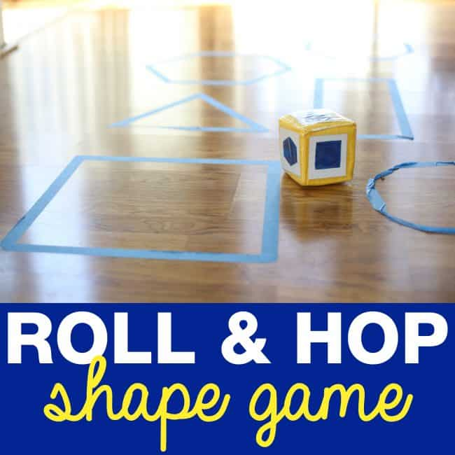 Super simple Roll & Hop Shape Game