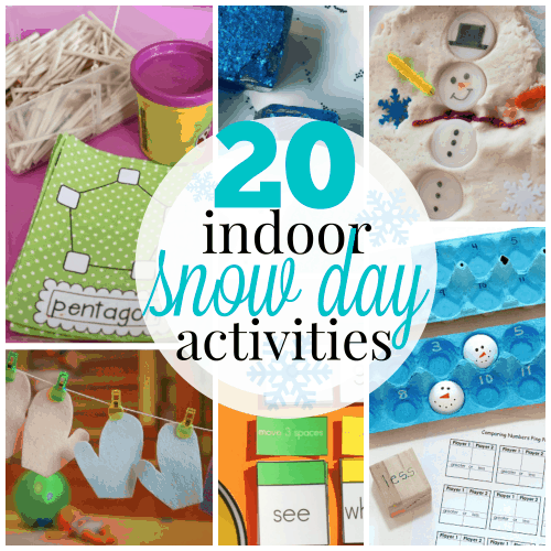 Indoor Snow Day activities