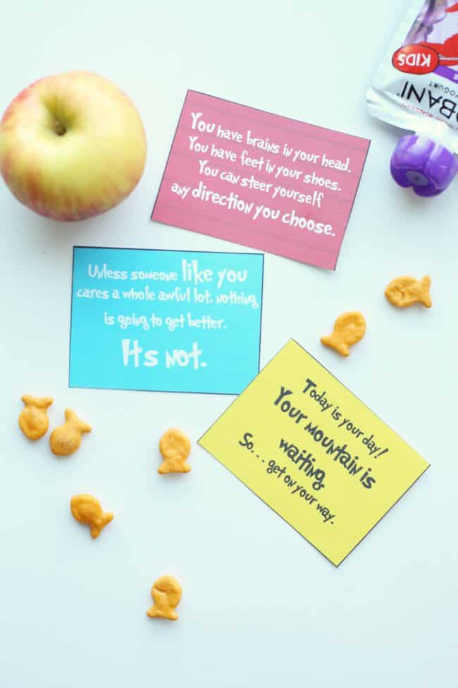 Dr. Seuss Printable Lunch Notes