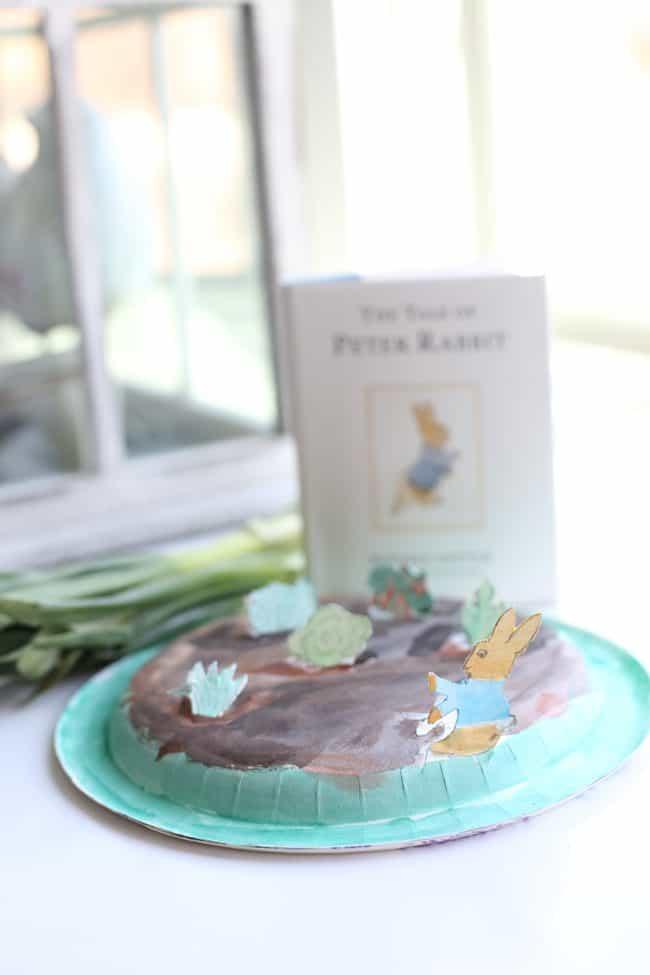 Peter Rabbit Paper Plate Pop-Up Garden