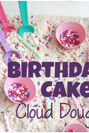 Birthday Cake Scented Cloud Dough