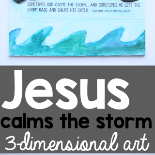 Jesus Calms the Storm Art for Kids