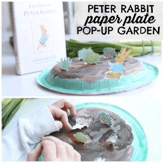 Peter Rabbit Paper Plate Pop Up Garden