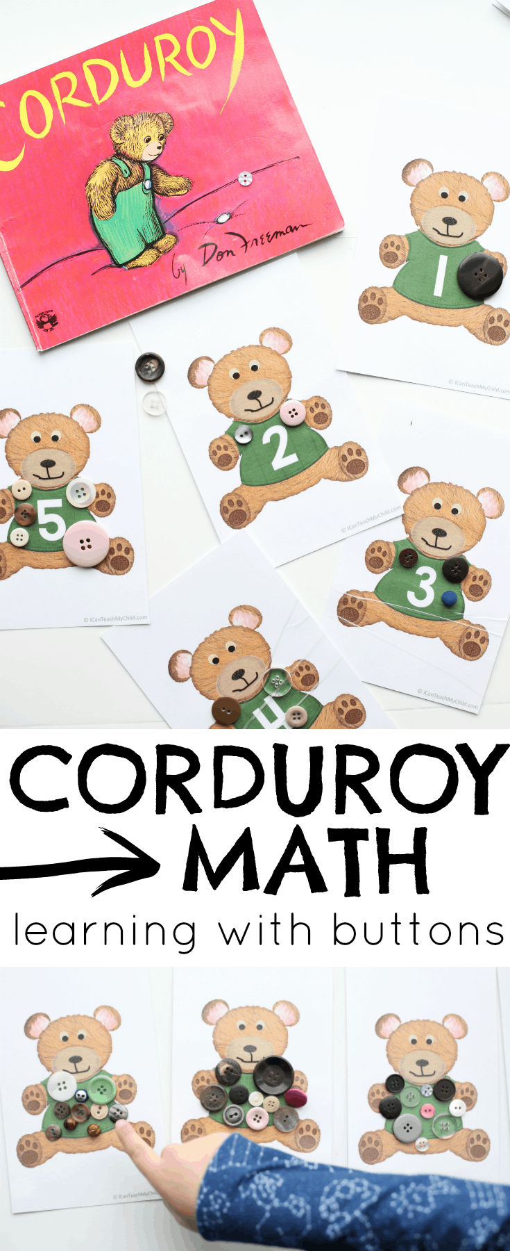corduroy math learning with buttons