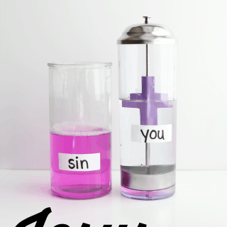 Science Experiment:  Jesus Washes Our Sins Away