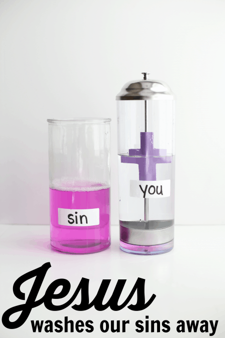 Science Experiment Jesus Washes Our Sins Away