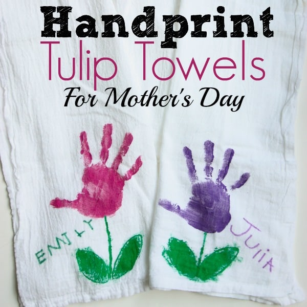 Handprint Tulip Towels