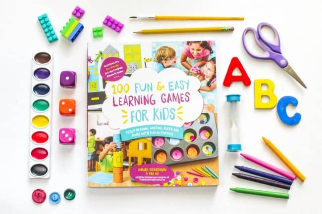 100 Fun and Easy Learning Games Promotion with supplies