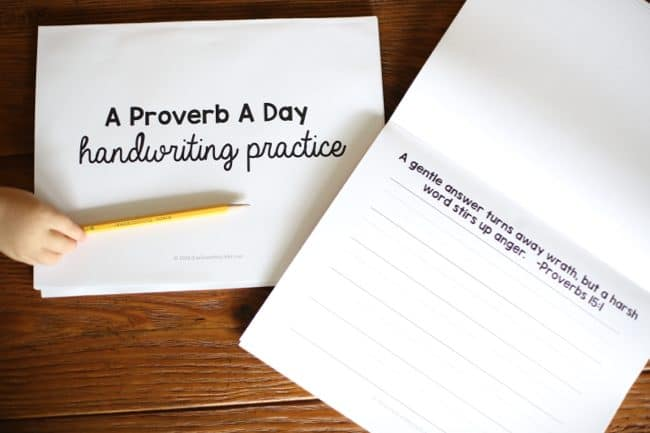 A Proverb a Day Handwriting Practice