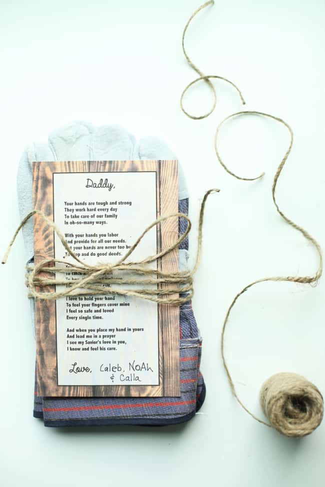 Handprint Work Gloves and Poem for Father's Day - I Can Teach My Child ...