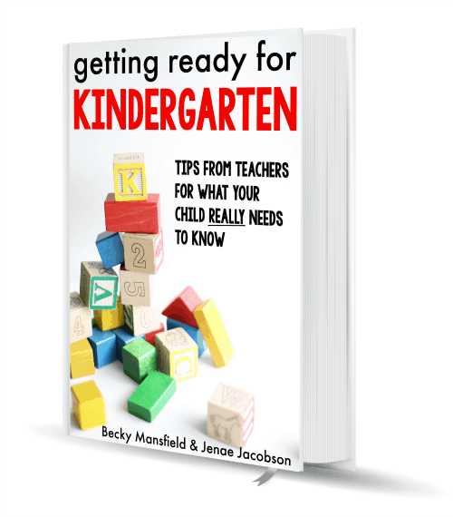 Getting Ready for Kindergarten 3D Book Cover