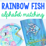 Rainbow Fish Alphabet Matching Craft