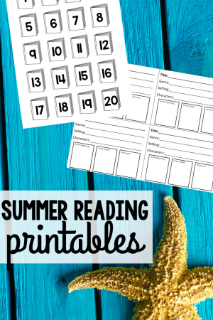 Free Summer Reading Printables