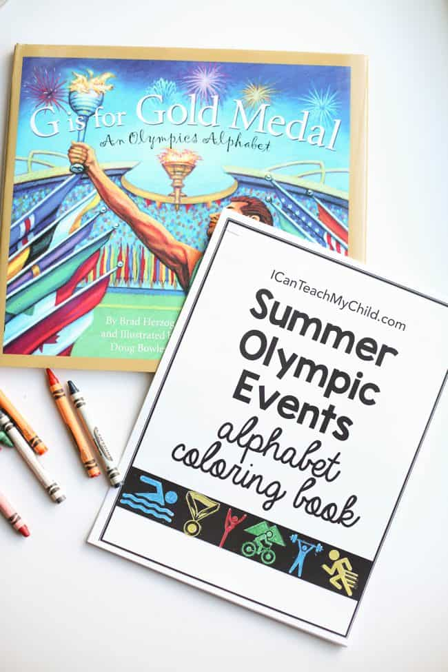 Summer Olympic Events Alphabet Coloring Book