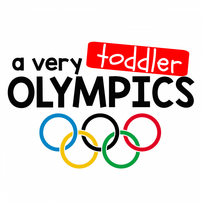 A Very Toddler Olympics white background