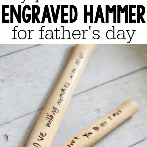DIY Personalized Engraved Hammer for Father's Day