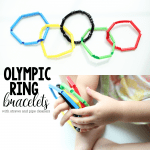 Olympic Ring Bracelets with Pipe Cleaners and Straws