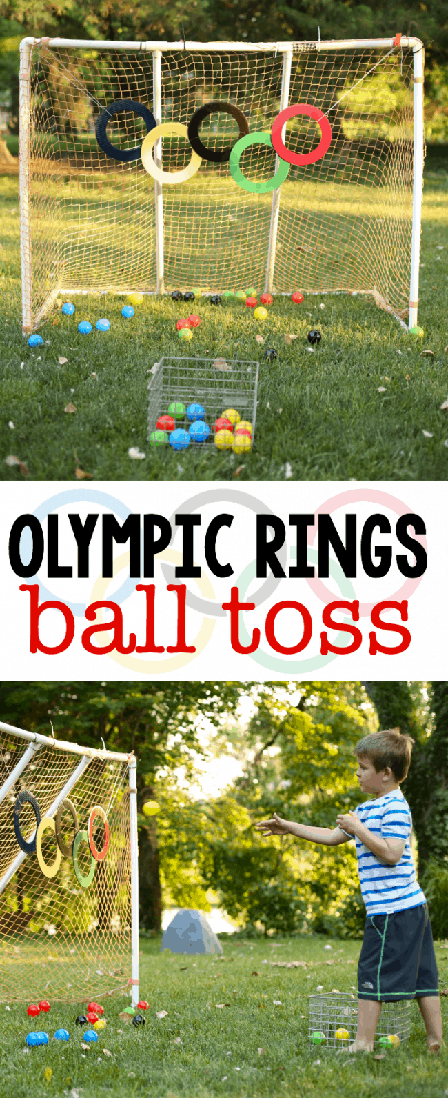 Olympic Rings Ball Toss