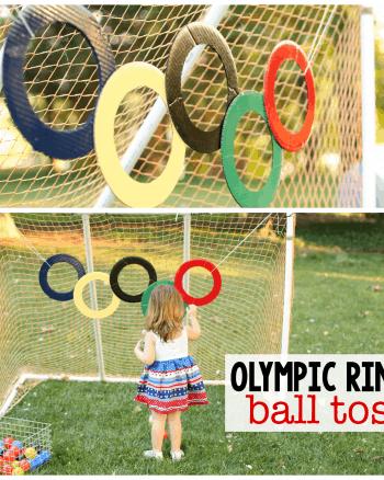 Olympic Rings Ball Toss