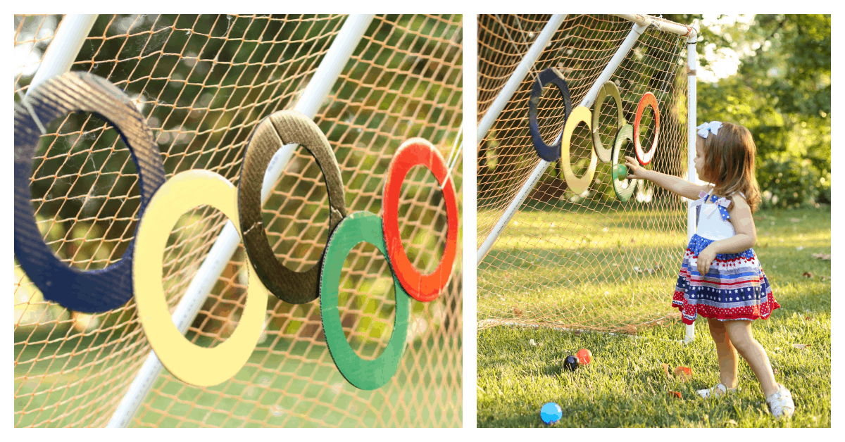 Olympic Rings Ball Toss I Can Teach My Child