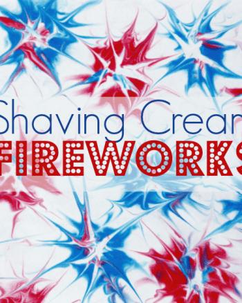 Shaving Cream Fireworks