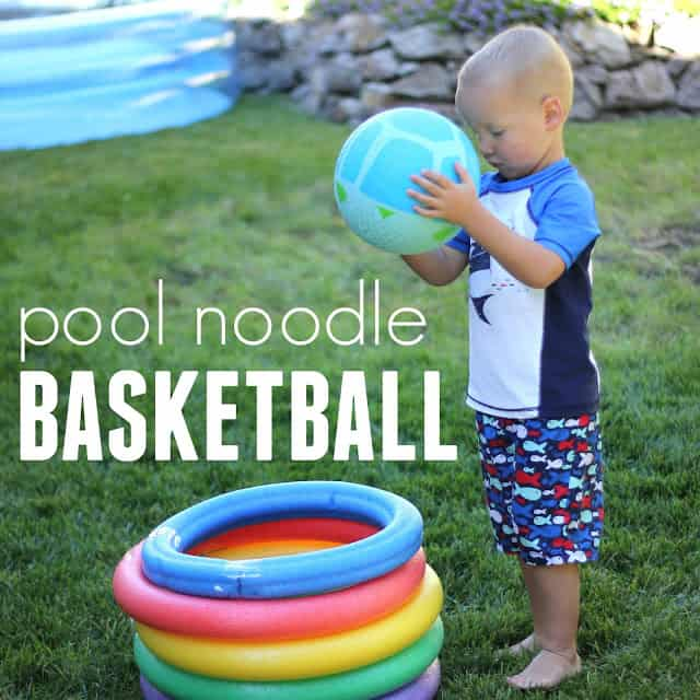 pool noodle basketball square text