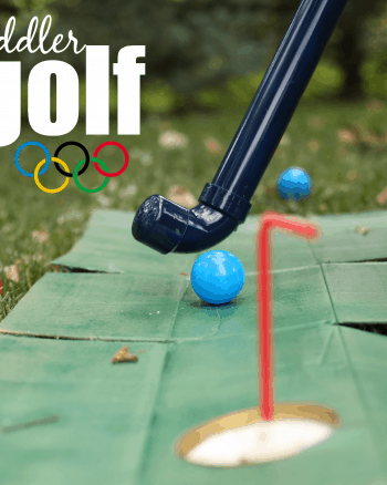 DIY Toddler Golf Clubs and Putting Green